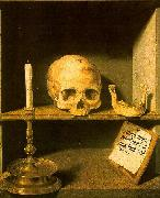 Bruyn, Barthel the Elder Vanitas still life from the reverse of china oil painting artist