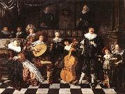 MOLENAER, Jan Miense Family Making Music ag oil painting