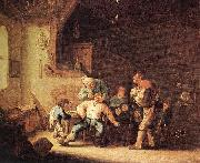 OSTADE, Adriaen Jansz. van Barber Extracting of Tooth sg oil on canvas