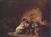OSTADE, Adriaen Jansz. van Brawl agf oil on canvas