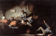 OSTADE, Adriaen Jansz. van Inn Scene ag oil on canvas
