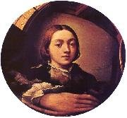 PARMIGIANINO Self-portrait in a Convex Mirror a oil painting