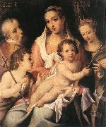 PASSEROTTI, Bartolomeo Holy Family with the Infant St John the Baptist and St Catherine of Alexandria f painting