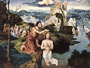 PATENIER, Joachim Baptism of Christ af oil painting