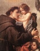 PEREDA, Antonio de St Anthony of Padua with Christ Child (detail) wsg oil painting