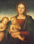 PERUGINO, Pietro Madonna with Child and Little St John af oil painting reproduction