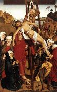 PLEYDENWURFF, Hans Crucifixion of the Hof Altarpiece sg oil painting reproduction