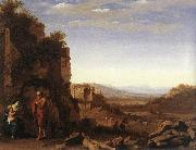 POELENBURGH, Cornelis van Rest on the Flight into Egypt af oil on canvas