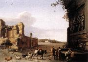 POELENBURGH, Cornelis van Ruins of Ancient Rome af oil on canvas