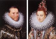 POURBUS, Frans the Younger Archdukes Albert and Isabella khnk oil