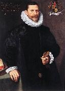 POURBUS, Frans the Younger Portrait of Petrus Ricardus zg oil