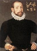POURBUS, Frans the Younger Portrait of Olivier van Nieulant af oil