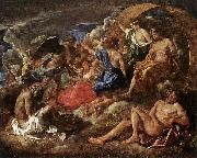 POUSSIN, Nicolas Helios and Phaeton with Saturn and the Four Seasons sf painting