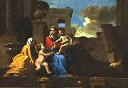 POUSSIN, Nicolas Holy Family on the Steps af painting