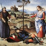 RAFFAELLO Sanzio Allegory (The Knight's Dream) oil painting