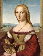 RAFFAELLO Sanzio Lady with a Unicorn dfg oil painting reproduction