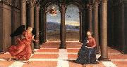 RAFFAELLO Sanzio The Annunciation (Oddi altar, predella) t oil