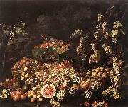 RECCO, Giuseppe Still-Life with Fruit and Flowers oil