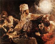 REMBRANDT Harmenszoon van Rijn Belshazzar's Feast oil painting reproduction