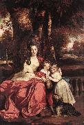 REYNOLDS, Sir Joshua Lady Elizabeth Delm and her Children oil