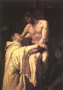 RIBALTA, Francisco Christ Embracing St Bernard xfgh oil