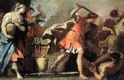 RICCI, Sebastiano Moses Defending the Daughters of Jethro oil painting reproduction