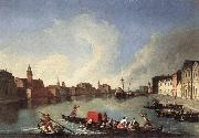 RICHTER, Johan View of the Giudecca Canal oil