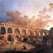ROBERT, Hubert The Pont du Gard AF oil