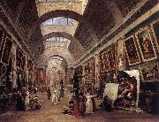ROBERT, Hubert Design for the Grande Galerie in the Louvre QAF oil
