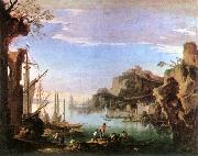 ROSA, Salvator Harbour with Ruins af painting