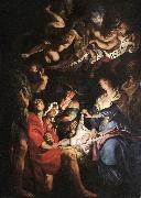 RUBENS, Pieter Pauwel Adoration of the Shepherds af oil
