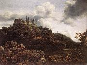 RUISDAEL, Jacob Isaackszon van Bentheim Castle oil
