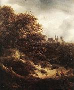RUISDAEL, Jacob Isaackszon van The Castle at Bentheim d oil
