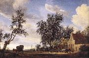 RUYSDAEL, Salomon van Halt at an Inn af painting
