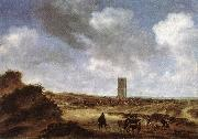 RUYSDAEL, Salomon van View of Egmond aan Zee f oil