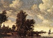 RUYSDAEL, Salomon van The Ferry Boat dh oil