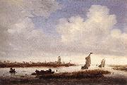 RUYSDAEL, Salomon van View of Deventer Seen from the North-West af china oil painting artist