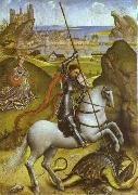 Rogier van der Weyden St. George and Dragon oil