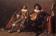 SAFTLEVEN, Cornelis The Duet af oil on canvas
