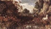 SAVERY, Roelandt The Garden of Eden  af oil