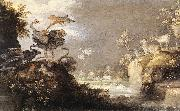 SAVERY, Roelandt Landscape with Wild Animals a oil