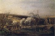 A.K.Cabpacob Landscape of Country oil on canvas