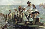 Alexander Mark Rossi The Little Anglers oil
