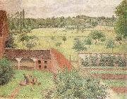 Camille Pissarro The Woman on the side of Wall oil painting reproduction