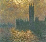 Claude Monet Houses of Parliament,Stormy Sky painting