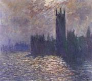 Claude Monet Houses of Parliament,Reflections on the Thames painting
