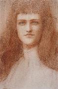 Fernand Khnopff Head of a Young Englishwoman painting