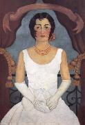 Frida Kahlo Portrait of a Woman in White oil painting reproduction