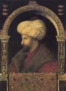 Gentile Bellini Portrait of the Ottoman sultan Mehmed the Conqueror oil painting