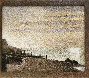 Georges Seurat Seine-s Dusk oil painting reproduction